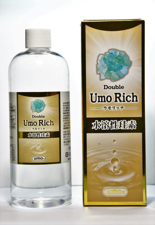 Health & Wellness , Umo, Silica 17,000ppm | 500ml Double UMO Rich Silica | water-soluble silica | 硅素水 | 日本水溶性硅素 | Product code: Umo-Silica-D-500