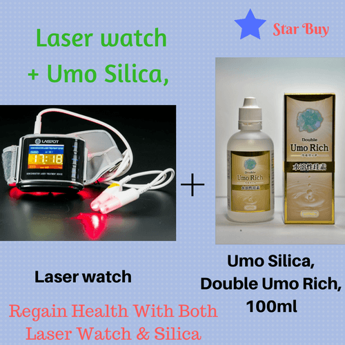 Diabetes Cure With Laser Watch Plus Double Umo Silica,100ml