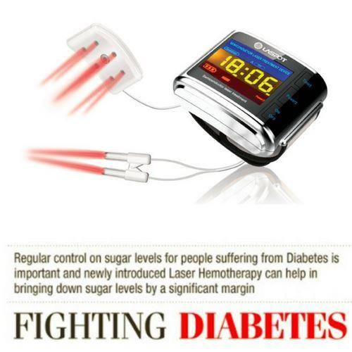 Diabetes cure with laser treatment device, Cold Laser Therapy Watch