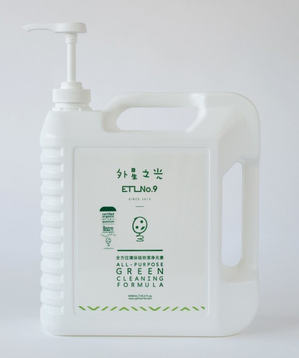 Pesticide removal, veg & fruits wash, ETL No. 9, Green formula (4L) | Pasar