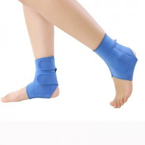 Ankle brace support band elastic tourmaline magnetic protector (2 pcs)