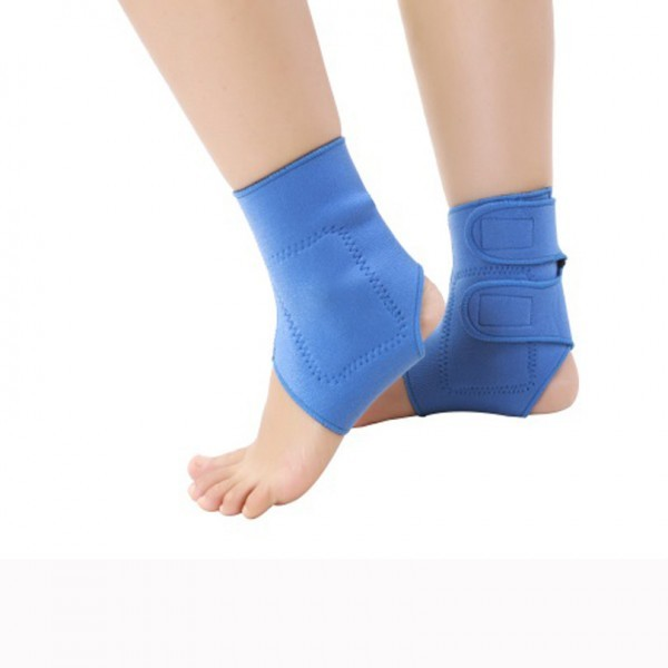 Elastic Ankle Brace Support Band Protector: 2 pcs Elastic tourmaline magnetic therapy Ankle Brace Support Band, Sports Gym ankle protector