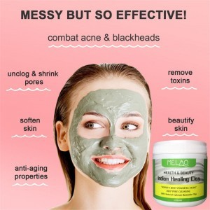 Indian Healing Clay Face Mask Deep Cleansing Skin Pore Moisturizing