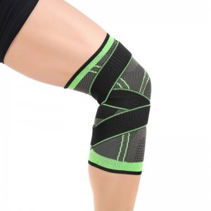 Knee support brace 3D weaving pressurized protective sports for sports