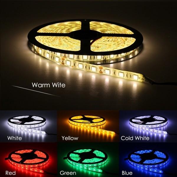 Flexible LED Strip Light 5050 RGB RGBW DC12V 60 LEDs/m 5m/lot