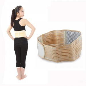 Lower back pain relief orthopedic self heating magnetic waist belt