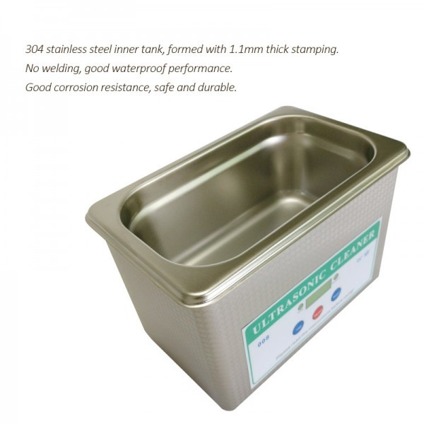 Digital Ultrasonic Cleaner : Mini Digital Ultrasonic Cleaner 0.8L Bath for Baskets Jewelry Watches Dental parts