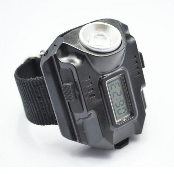 Watch With Light Led Wrist Torch Red Laser Rechargeable Flashlight