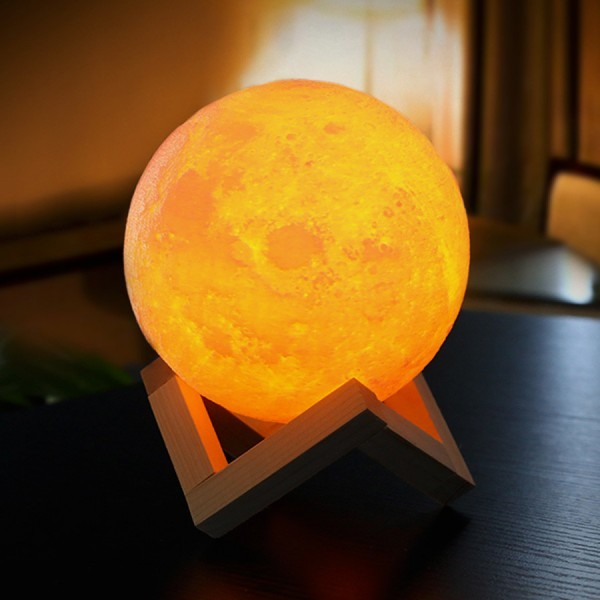 Moon Lamp LED Bedroom Lamp Touch Switch 3D Print Novelty Home Decoration
