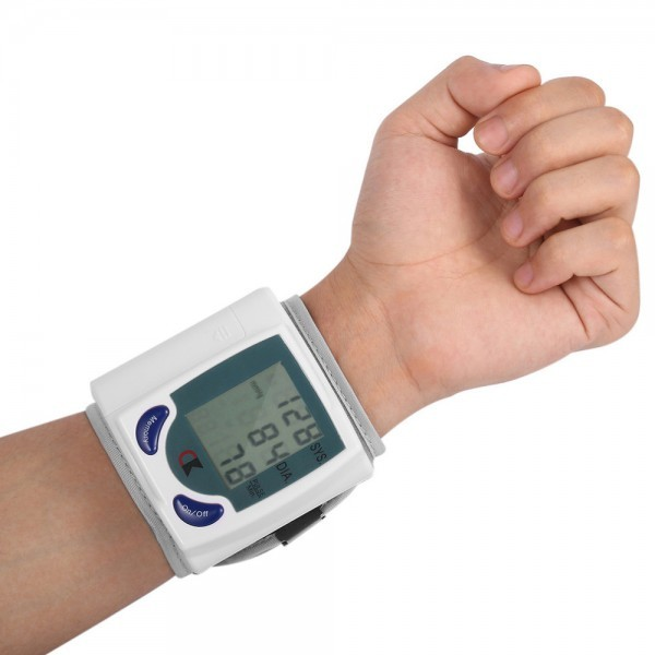 Automatic Wrist Digital LCD Blood Pressure Monitor Heart Beat Rate Pulse Measurement