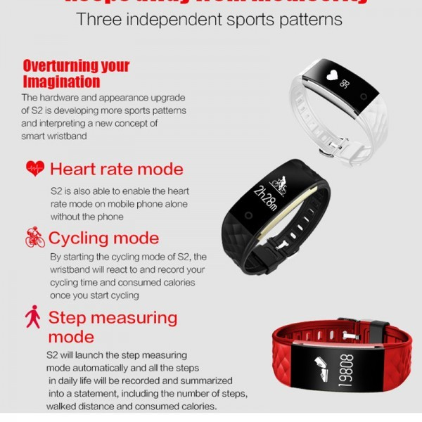 Bluetooth Smart Watch Heart Rate Monitor Sleep Tracker for Android iPhone