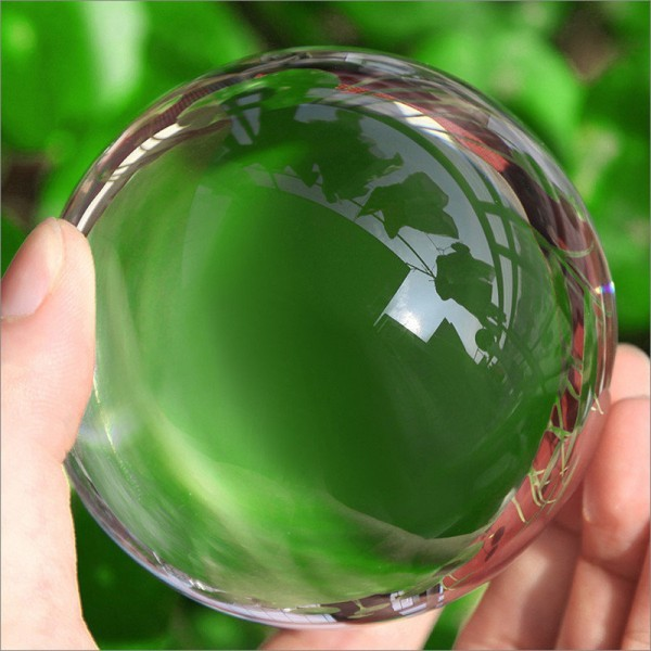 Feng Shui Ball Clear Crystal Ball Quartz Natural Amber Stones Sphere for Good Luck