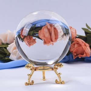 Crystal ball Feng Shui ball clear quartz natural amber stones sphere good luck