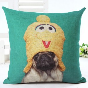 Cushion Covers Lovely Pug Home Decorative Sofa Cushion Pillow Case
