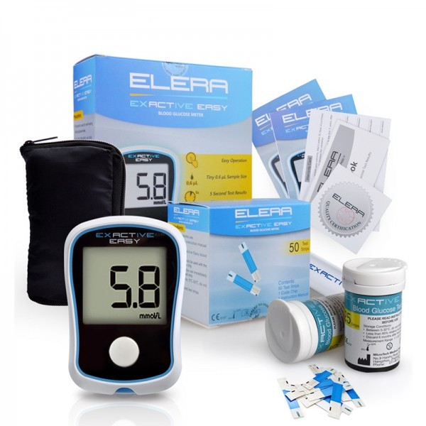Blood Glucose Meters Diabetics Monitor Glucometer 50/100 Strips +50 Needles