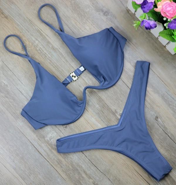 Micro Bikini Set High Waist Swimsuit high cut thong bathing suit swimwear biquini