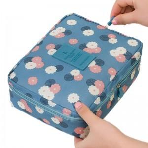 Makeup Bag Cosmetic Case Organizer Travel Wash pouch Toiletry Storage Nylon Zipper