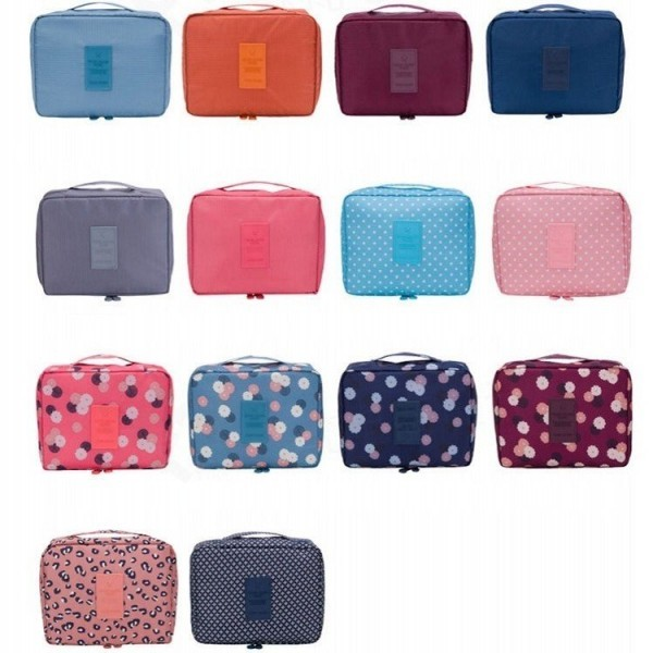 Makeup Bag Cosmetic Case Organizer Travel Wash pouch Toiletry Storage Nylon Zipper