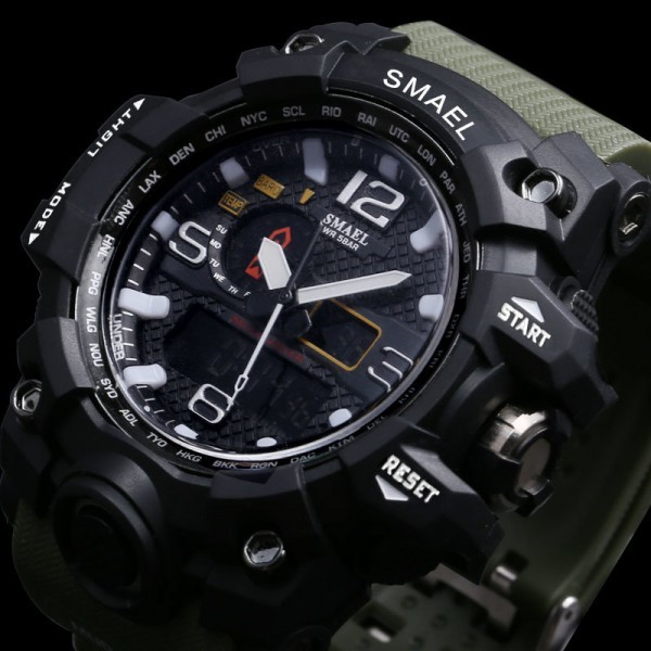 Men's Watches Military 50m Waterproof LED Quartz Clock Wristwatch Sports Shock Relogios Masculino