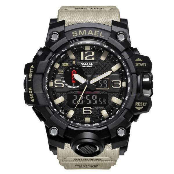Men's Watches Military 50m Waterproof LED Quartz Clock Wristwatch Sports Shock