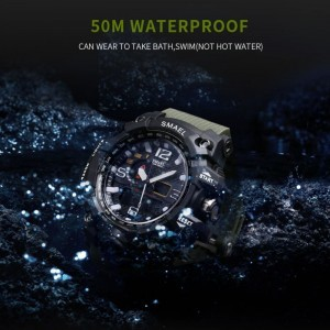 Men's Watches Military 50m Waterproof LED Quartz Clock Wristwatch Sports Shock