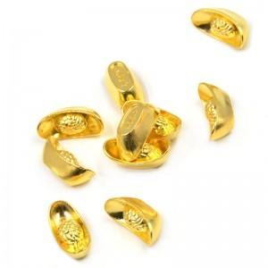 Metal Crafts Auspicious Feng Shui Gold Ingot Mascot Lucky Money Decoration