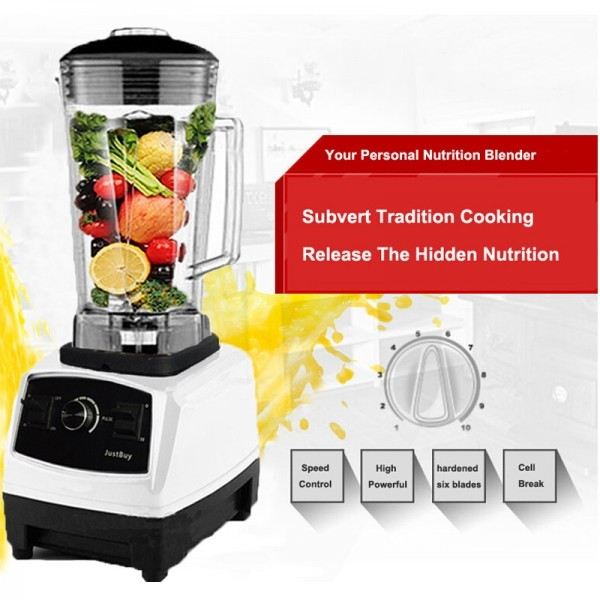 Heavy Duty Blender Mixer Juicer 3HP 2L BPA Free Powerful Food Processor