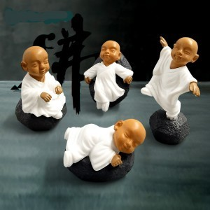 Monk Miniatures Feng shui wealth monks resin craft bonsai figurine fairy