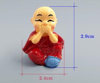 Monk Miniatures Feng shui wealth monks resin craft bonsai furniture figurine fairy