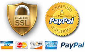 Secure Payment by PayPal, 100% Secure Transactions
