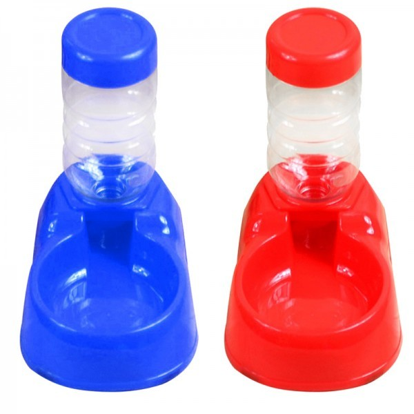 Pet Water Fountains Automatic Water Bottle Dispenser Food Bowl Feeder