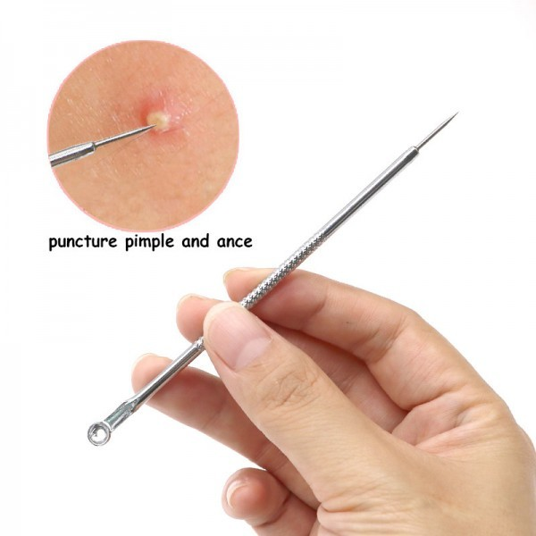 Pimple Removal Stainless Acne Needle Blackhead Comedone Extractor