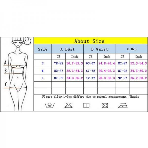 High Neck Push up Bikini Set Geometry Black Swimwear Slim Print Swimsuit