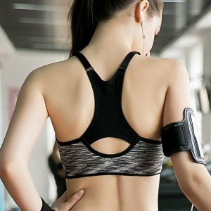 Sports bra women bra padded tops fitness yoga gym spaghetti straps