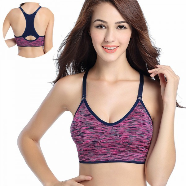 Sports Bra Women Bra Padded Tops For Fitness Yoga Running Gym Adjustable Spaghetti Straps