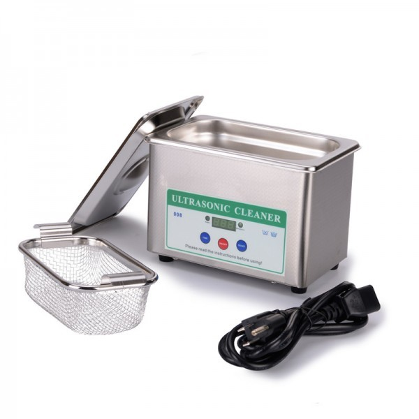 Mini Digital Ultrasonic Cleaner 0.8L Bath for Baskets Jewelry Watches Dental parts