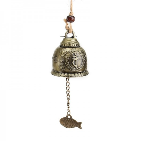 Feng Shui Bell Blessing Wind Chime with Buddha Statue for Good Luck Fortune