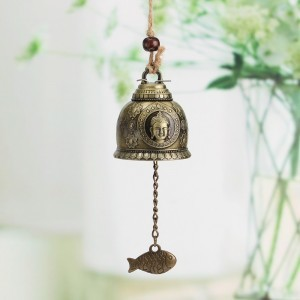 Wind Chime Feng Shui Bell Blessing with Buddha Statue for Good Luck Fortune