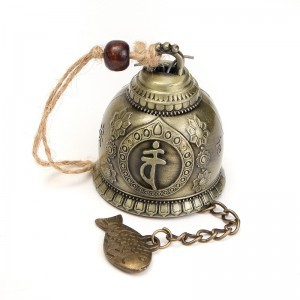 Wind Chime Feng Shui Bell Blessing with Buddha Statue for Good Luck