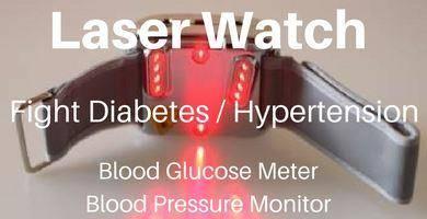 Laser Watch, fight diabetes / hypertension, Blood Glucose Meter, Blood Pressure Monitor