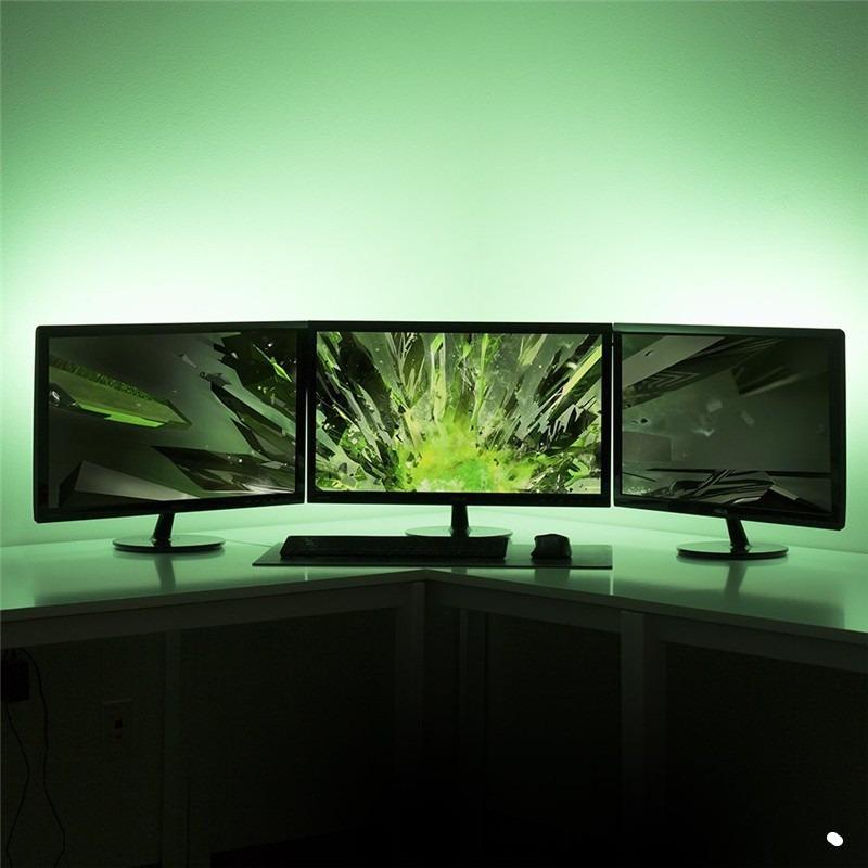 USB LED Light Strip 5050 DC5V RGB Flexible 1M 2M Adhesive Tape TV Background Lighting