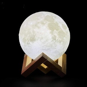 Moon lamp LED bedroom lamp touch switch 3D printing novelty decoration