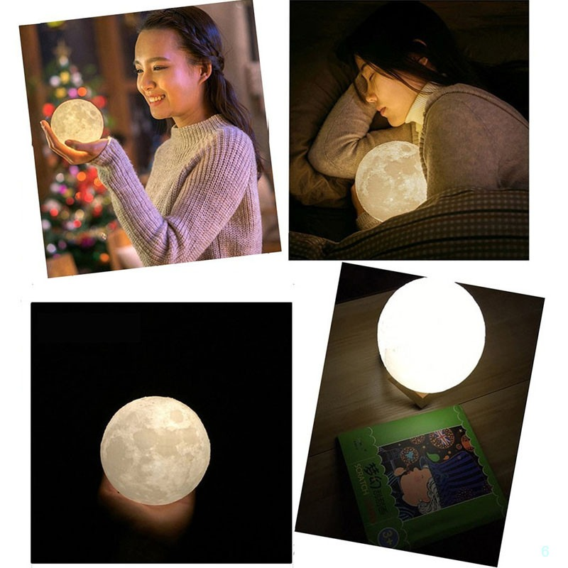 Moon Lamp Two Tone Brightness USB Charging Touch Control