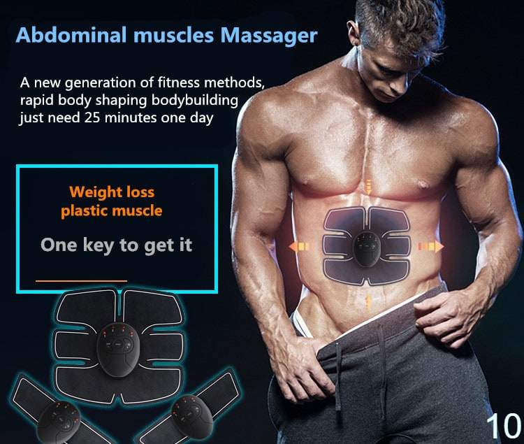 electric abs ems muscle stimulator abdominal slimming