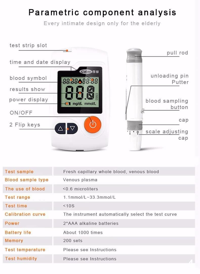 glucometers blood glucose meter for diabetes monitoring