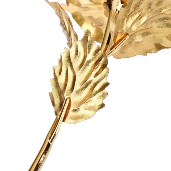 Gold Plated Rose Home Decoration Flowers Romantic Gift