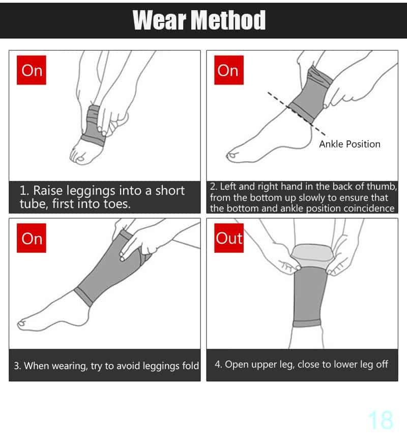 Elastic Lycra Leg Warmers Compression Sleeve Thigh Calf
