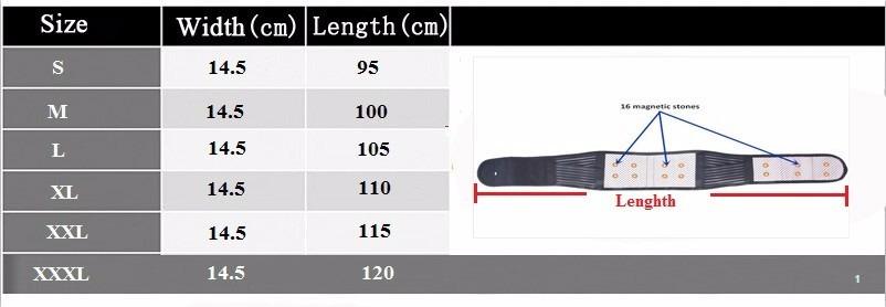 Lower back pain relief orthopedic self heating magnetic waist belt