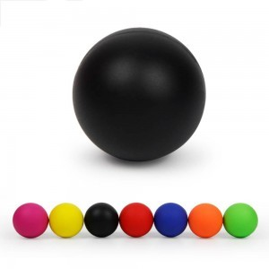Massage Ball 100% Rubber Fitness Lacrosse Ball 64mm Trigger Point Therapy