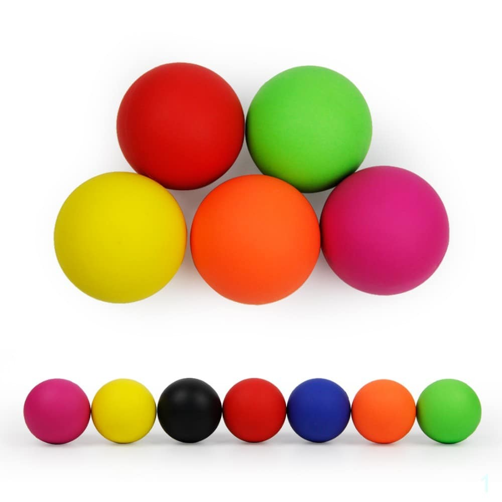 Massage Ball 100% Rubber Fitness Lacrosse Ball 64mm Trigger Point Therapy Self Massage